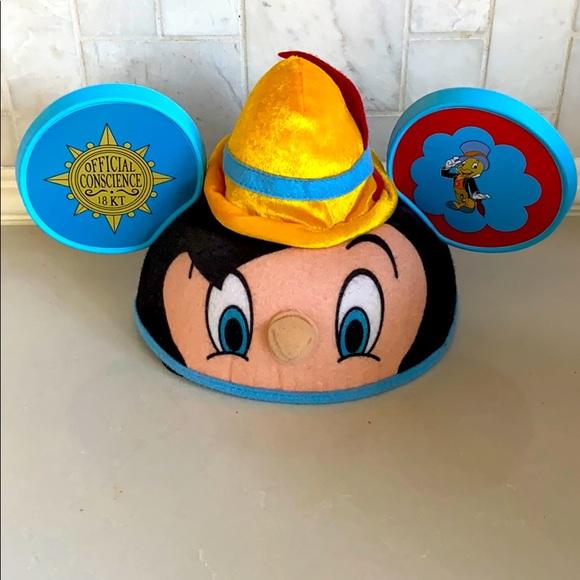 Pinocchio Disney Parks Ear Hat NWOT